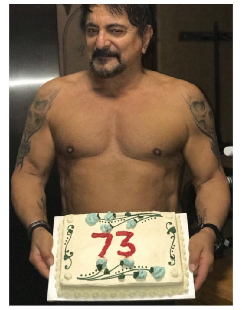 Tom Savini at 73, courtesy of Twitter