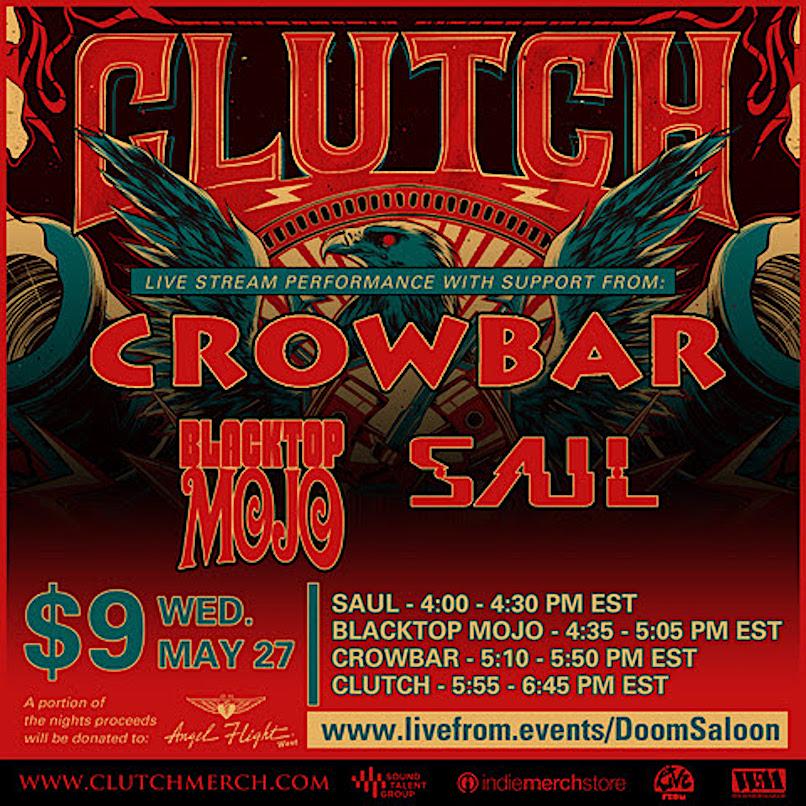 Clutch virtual concert
