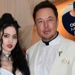 Grimes and Elon Musk with baby