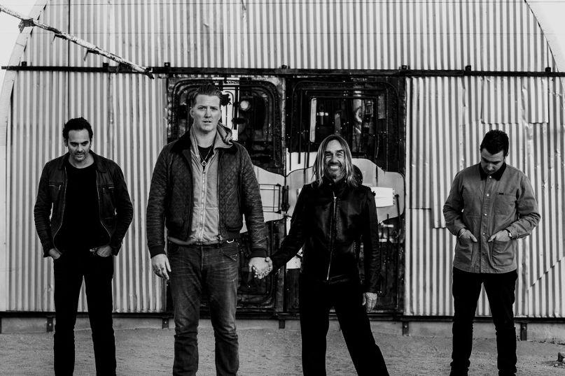 Iggy Pop with Josh Homme, Dean Fertita, and Matt Helders