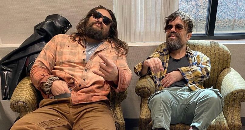 Jason Momoa and Gary Dinklage