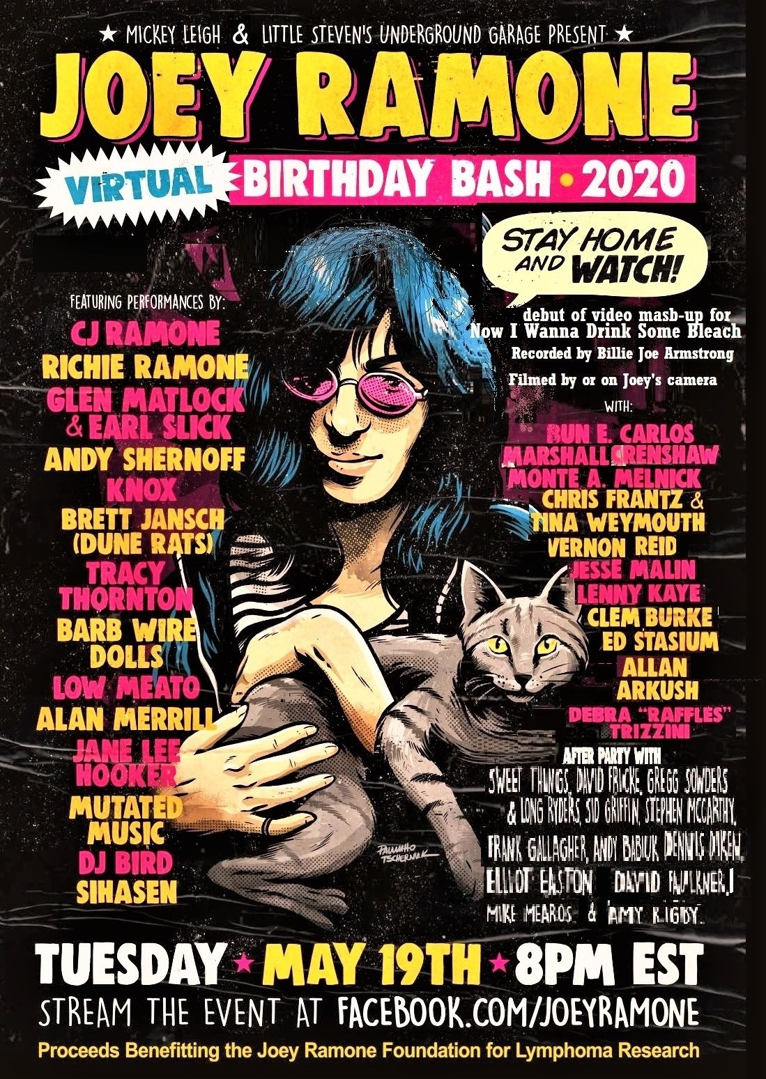 Joey Ramone Virtual Birthday Bash 2020