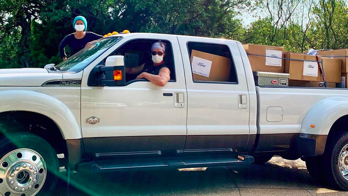 Matthew McConaughey delivers 110,000 masks to rural hospitals in Texas