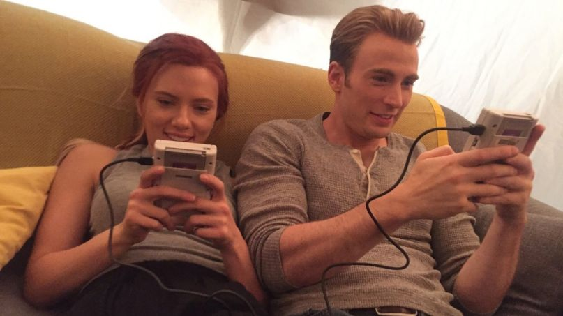 The Avengers reunion Scarlett Johansson and Chris Evans