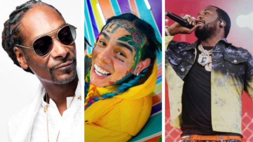 Snoop Dogg, Tekashi 6ix9ine, and Meek Mill (photo by Nick Langlois)