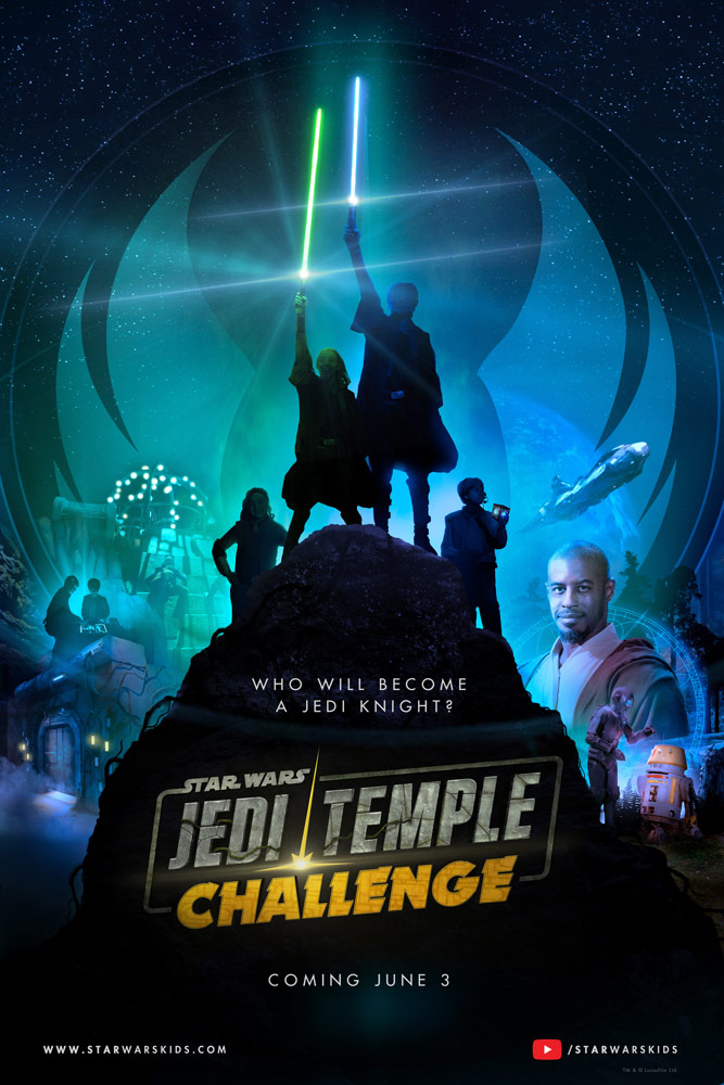 jedi temple challenge poster star wars kids Young Padawans Face Off in First Trailer for Star Wars: Jedi Temple Challenge: Watch
