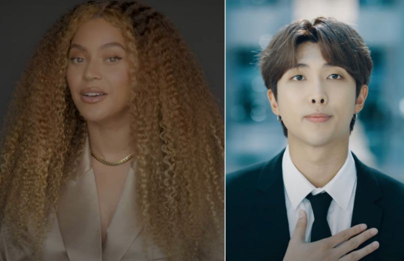 Beyonce and RM of BTS