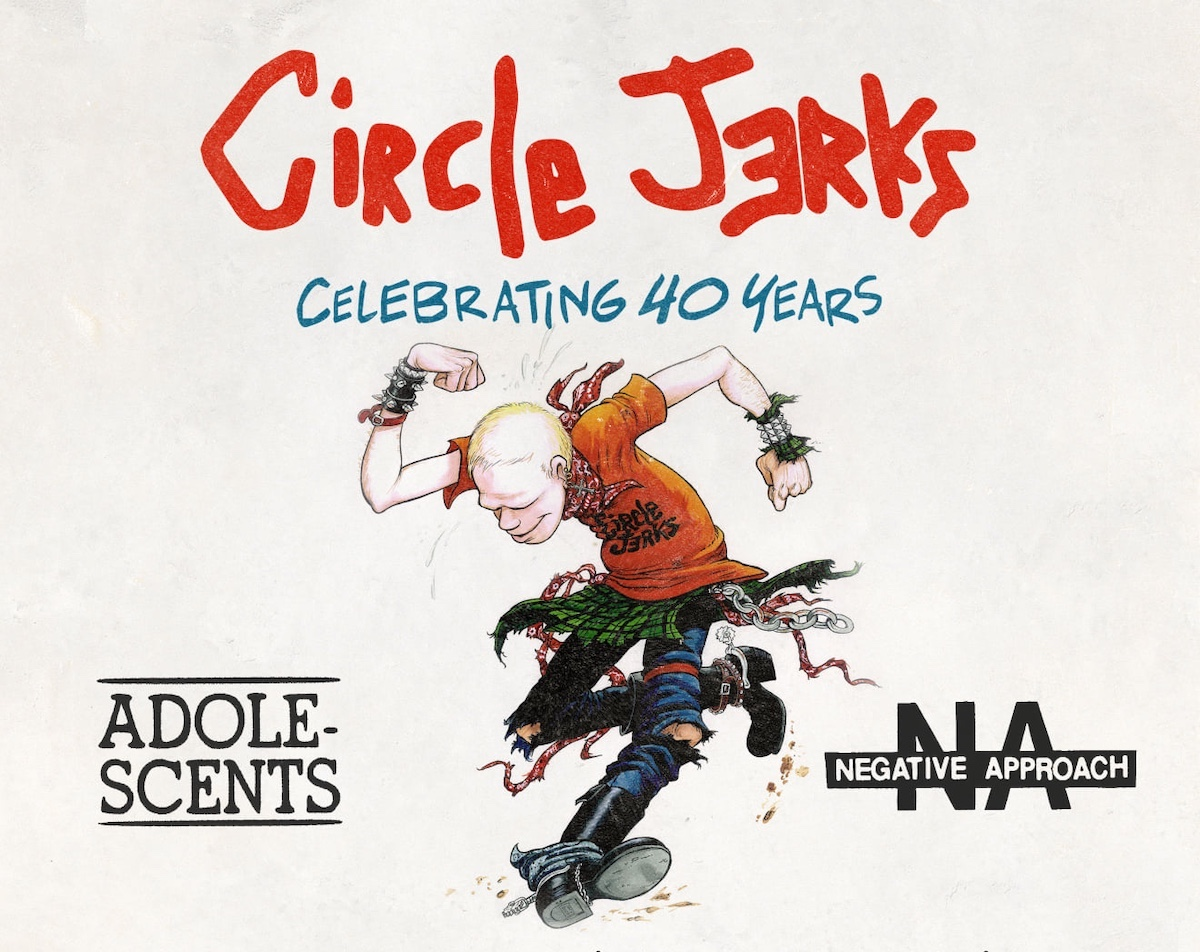 Circle Jerks tour poster 40th anniversary