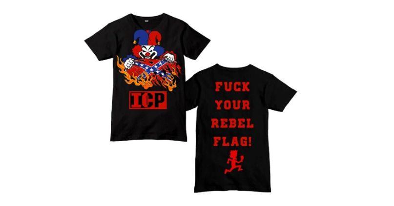 """Insane Clown Posse's """"Fuck Your Rebel Flag"""" t-shirt"""