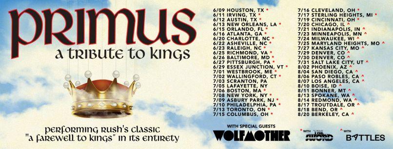 Primus Tour 2021 Rush Primus Reschedule Rush Tribute Tour for 2021