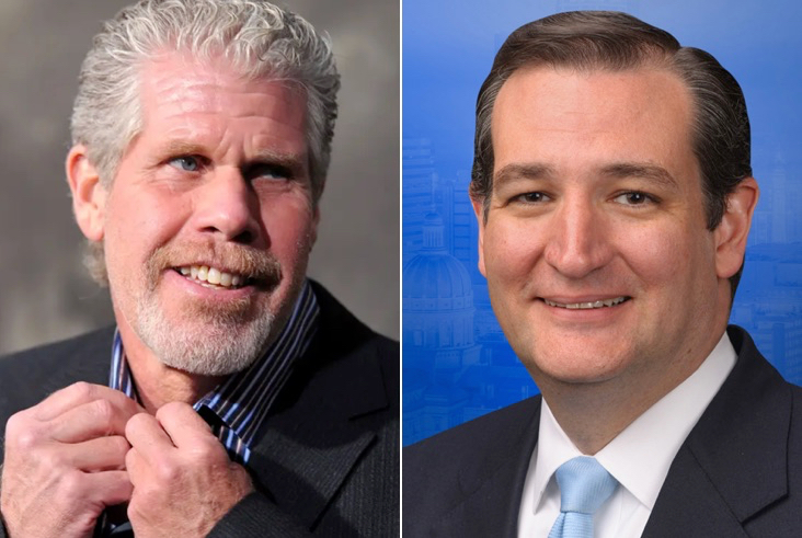 Ron Perlman and Ted Cruz