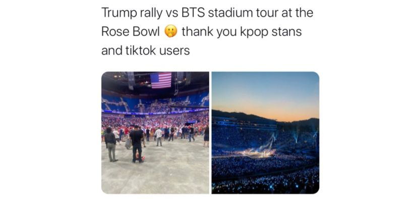 Trump K-pop tweet