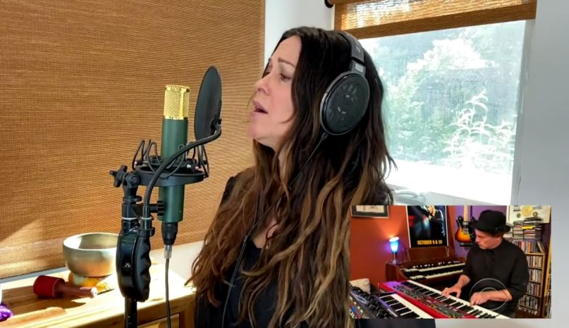 "Watch Alanis Morissette Perform ""Diagnosis"" on James Corden 