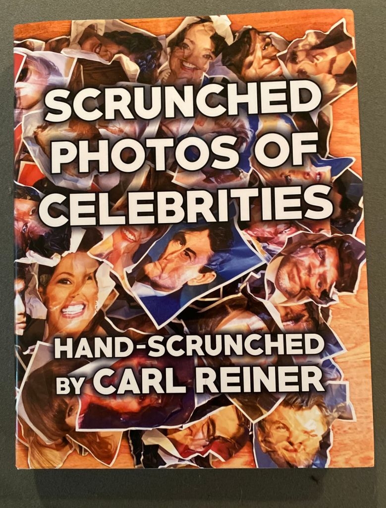 Scrunched Photos of Celebrities Hand-Scrunched by Carl Reiner