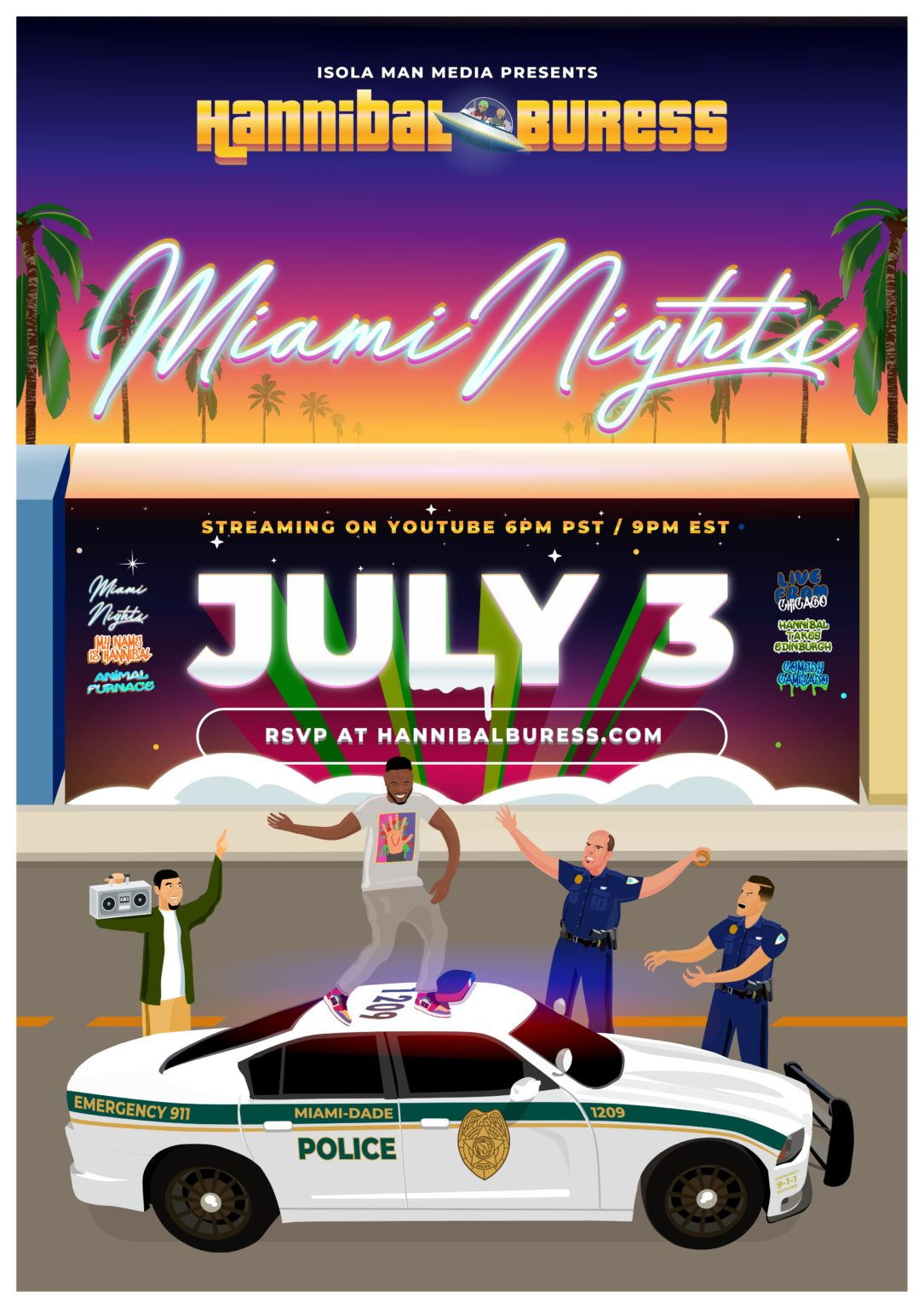 hannibal buress miami nights comeday special poster