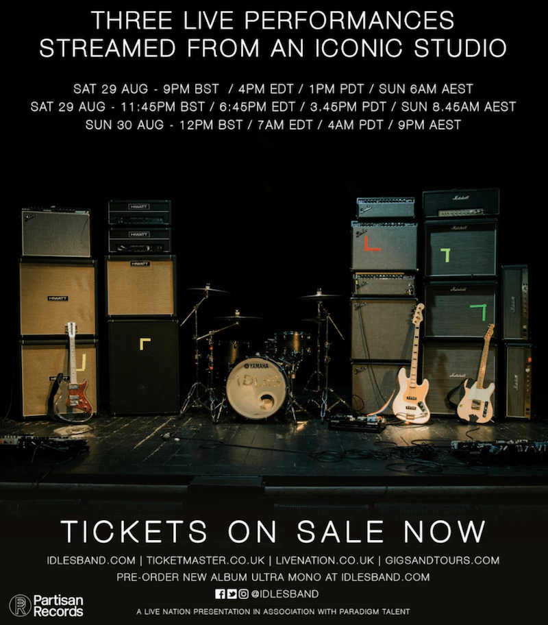 idles livestream IDLES Announce New Album Ultra Mono, Share Grounds: Stream