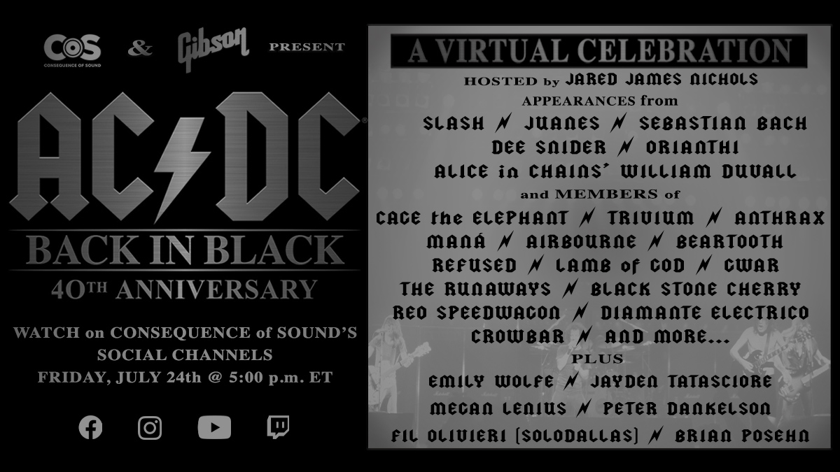 acdc back in black 40th virtual celebration lineup cta