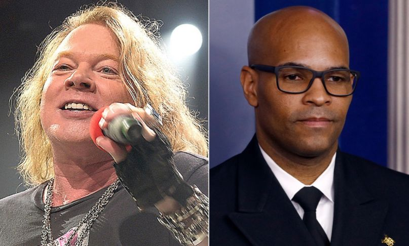 Axl Rose and Jerome Adams