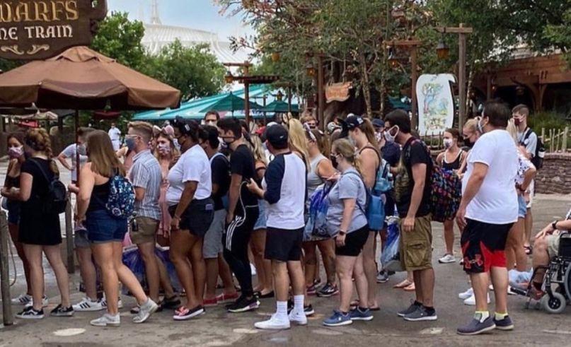 Disney World crowds coronavirus