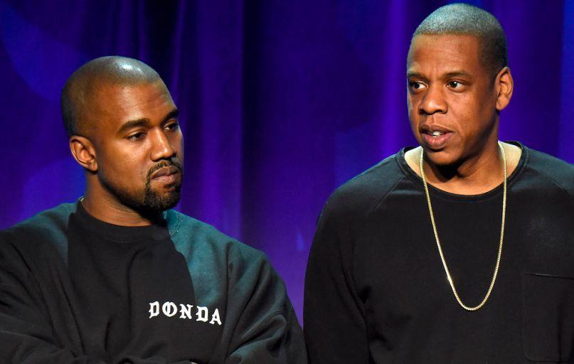 Kanye West and JAY-Z, photo via Roc Nation