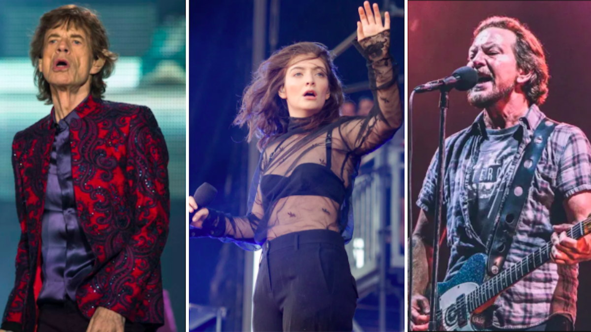 Mick Jagger, Lorde, Pearl Jam Sign Open Letter Demanding Politician...