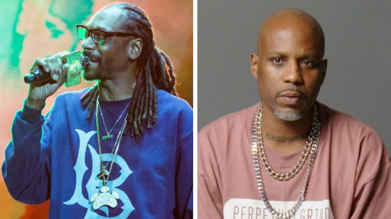 Snoop Dogg DMX Verzuz rap battle Snoop Dogg (photo by Philip Cosores) and DMX (photo via Instagram)