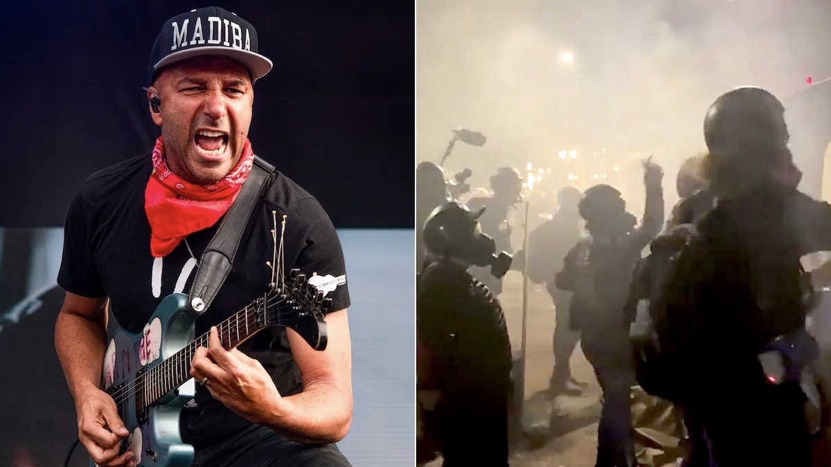 """Portland protesters chant Rage Against the Machine's """"Killing in the Name"""" at federal agents: Watch"""