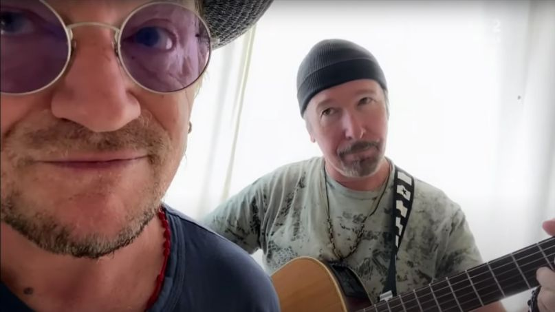 U2 stairway to heaven cover stream Bono and The Edge (YouTube)
