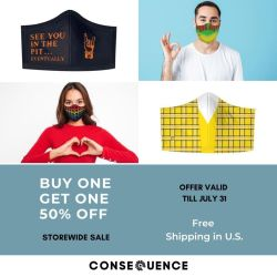 All Merch is Now Buy One, Get One 50% Off