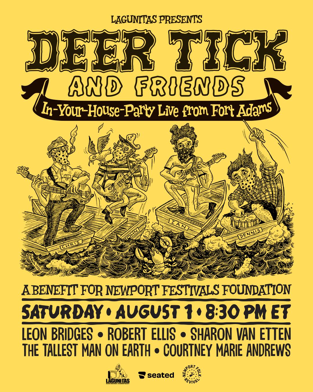 deer tick and friends newport folk festival folk on revival weekend