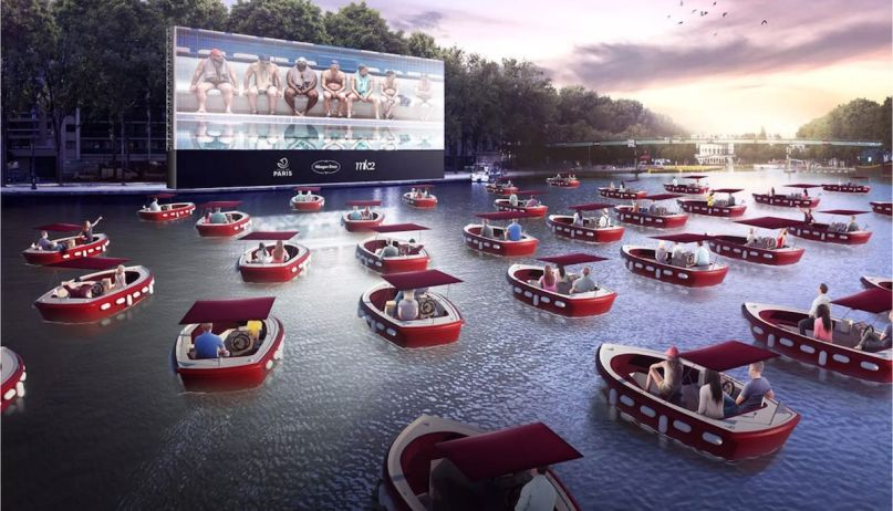 floating movie theater coronavirus boats boat movies An artist's rendering of the floating boat cinema (Beyond Cinema)