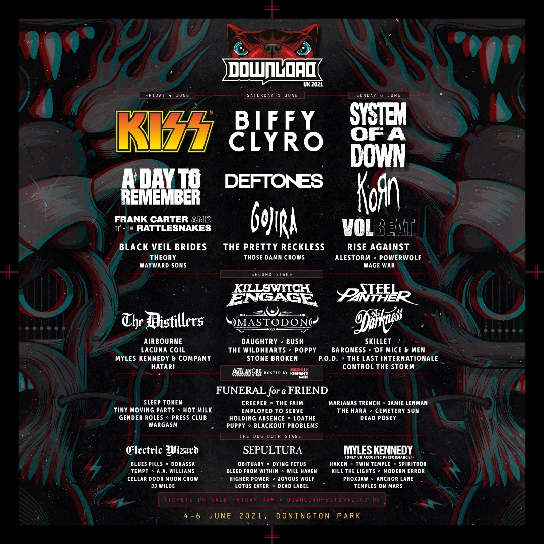 Download Festival 2021 System Of A Down KISS Deftones