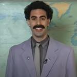 Sacha Baron Cohen Borat Seen Filming Costume TIk Tok Stream Borat 2