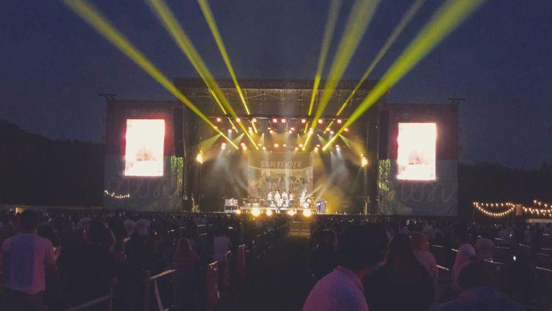 UK socially distanced concert venue Sam Fender coronavirus live Virgin Money Unity Arena Sam Fender, photo by Jonathan Morgan