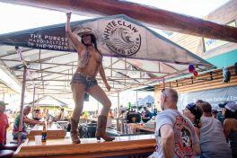 A dancer performs at One Eyed Jacks during the 80th annual Sturgis Motorcycle Rally on Saturday, Aug. 15, 2020, in Sturgis, S.D. (Amy Harris)