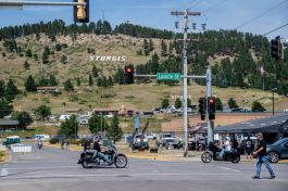A general view of the atmosphere during the 80th annual Sturgis Motorcycle Rally on Saturday, Aug. 15, 2020, in Sturgis, S.D. (Amy Harris)