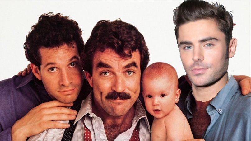 Disney Plus Three Men and a Baby Zac Efron remake