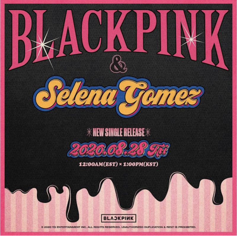 blackpink selena gomez collaboration single artwork BLACKPINK Announce New Single Ice Cream Featuring Selena Gomez