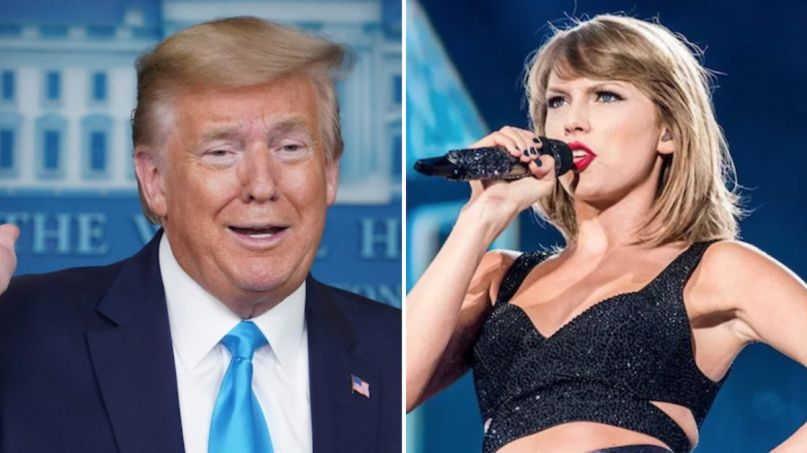 donald trump taylor swift usps