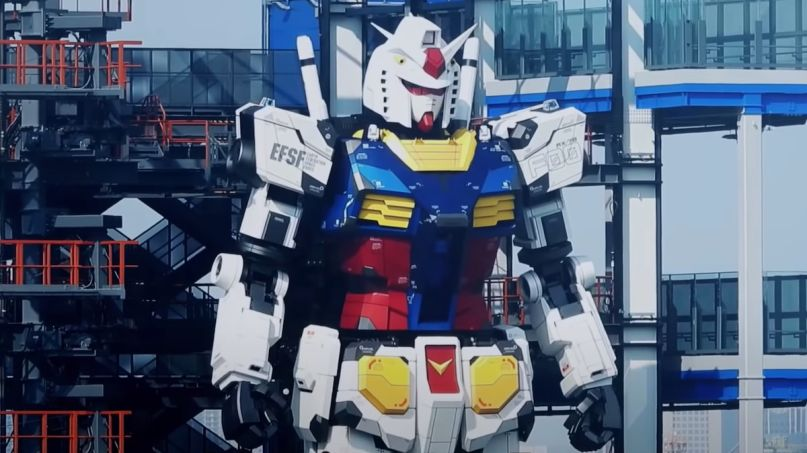 GUNDAM factory Life-Size RX-78-2 Replica moves japan