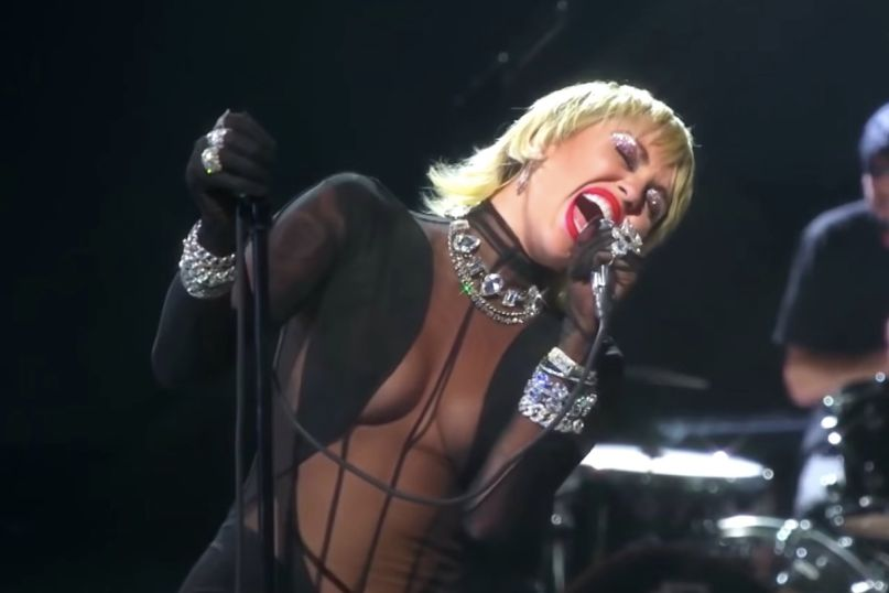 Miley Cyrus performs at iHeartRadio Festival