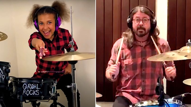 Nandi Bushell Dave Grohl drum battle continues