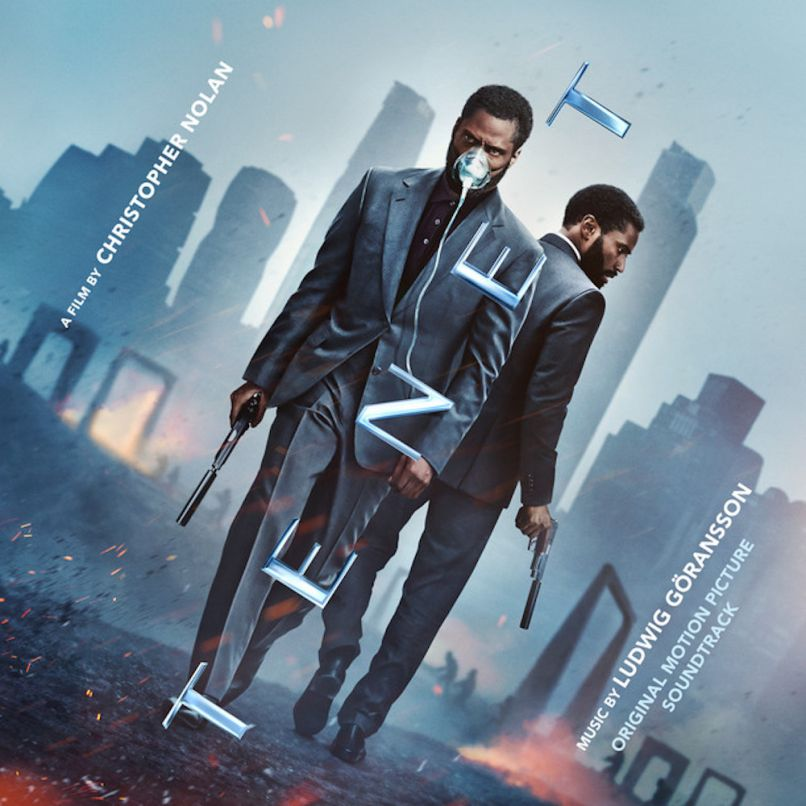 Christopher Nolan Tenet movie soundtrack album artwork cover art