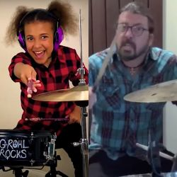 Dave Grohl Wrote a Theme Song for this 10-Year-Old Drummer