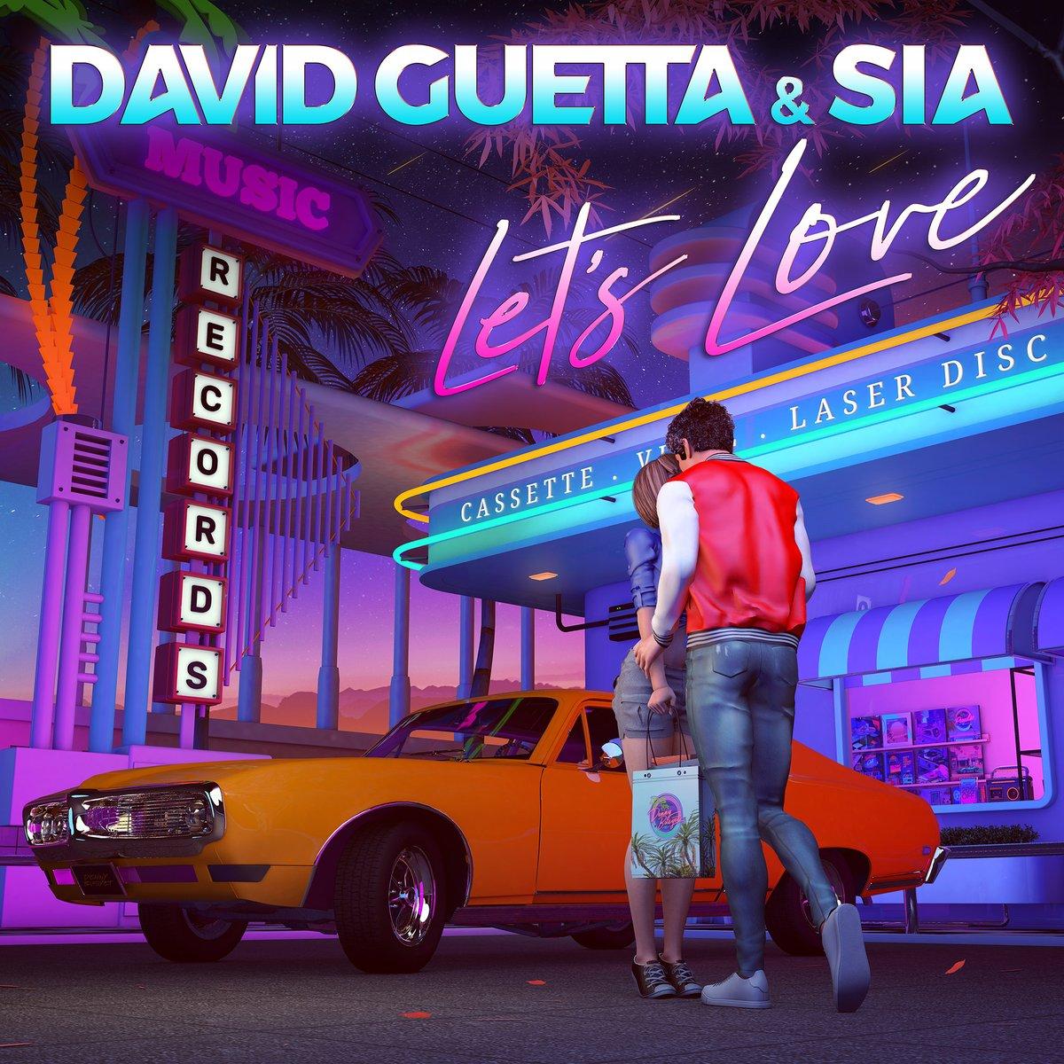 david guetta sia let's love song artwork single