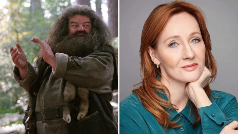harry potter hagrid robbie coltrane jk rowling defend trasnphobic comments transphobia