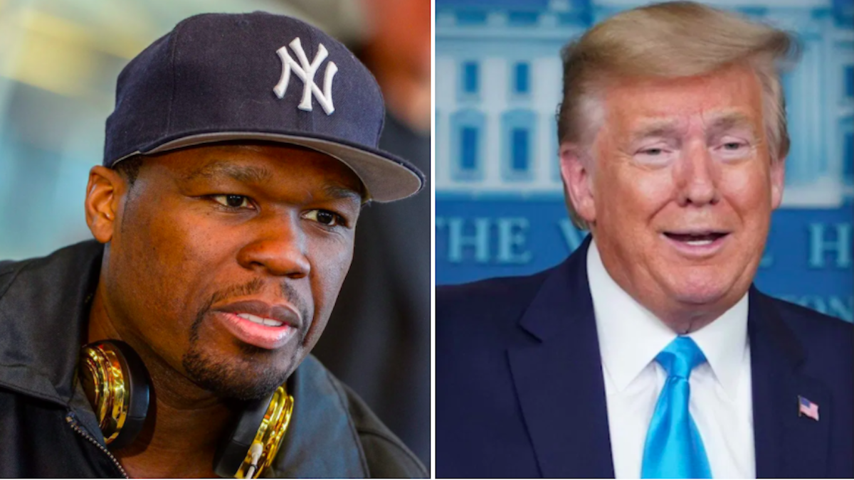 "50 Cent endorses Donald Trump even though ""Trump doesn't like black people"""