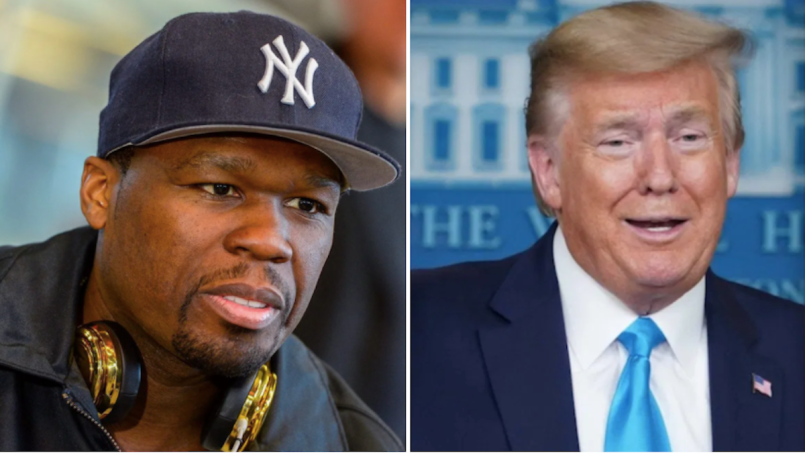 50 Cent Endorses Donald Trump Joe Biden President VIce President Tax Plan Hike New York Los Angeles