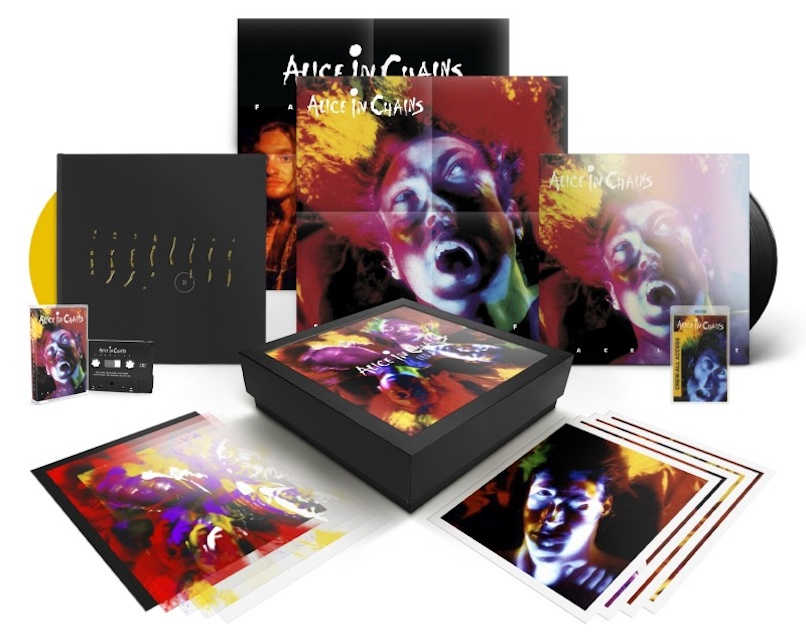 Alice in Chains Box Set close up Alice in Chains to Release Facelift 30th Anniversary Deluxe Box Set