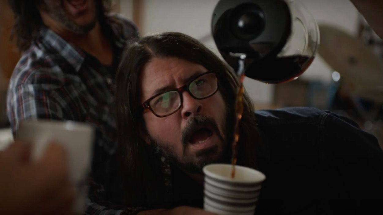 Dave Grohl conquers his addiction to FRESH POTS! in new spoof video: Watch